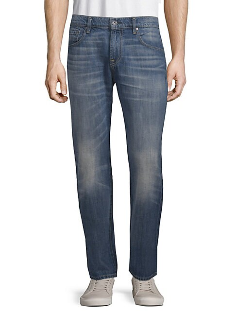 Cotton Straight-Leg Jeans
