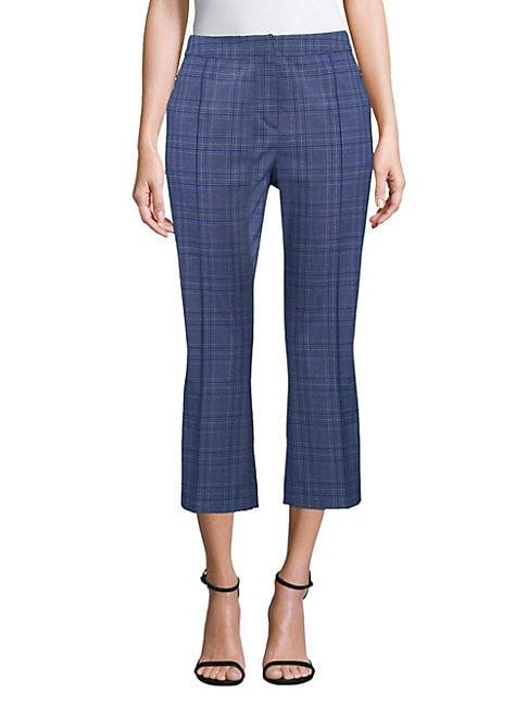 Lisa Cropped Stretch Check Pants