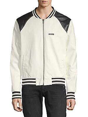 MEMBERS ONLY Classic Racer Jacket in White