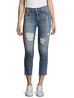 AMO - Cropped & Distressed Jeans