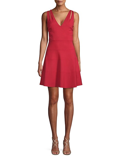ALI & JAY | Lace Back Fit-and-Flare Dress | Goxip