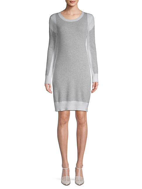 Cashmere Ribbed Sweater Dress