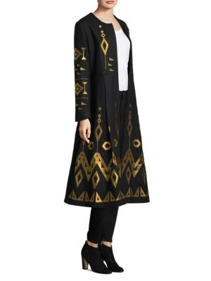March11 Embroidered Wool Coat