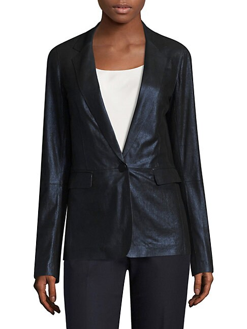 LYNDON LEATHER BLAZER