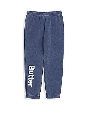 Little Girls Burnout Fleece Varsity Pants