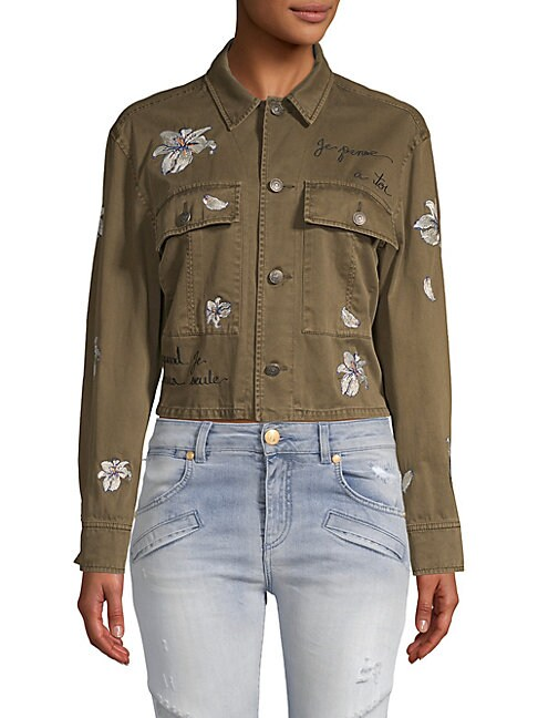 Cosette Embroidered Denim Jacket