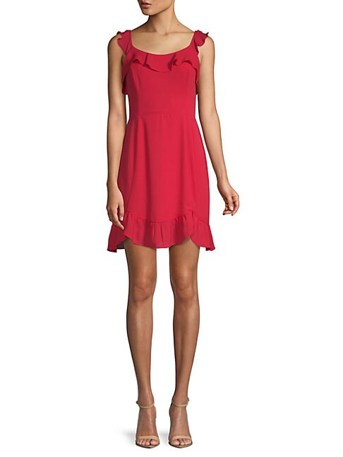 19 COOPER | Ruffled Sheath Dress | Goxip