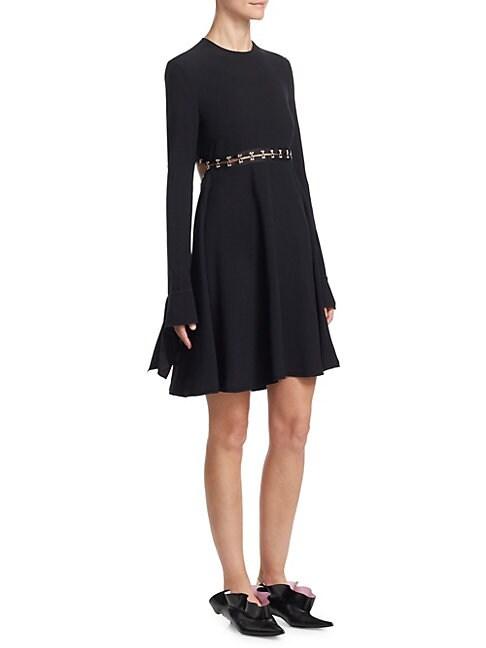 A-Line Satin Dress