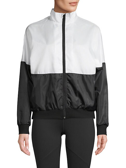 BODY LANGUAGE Easton Long-Sleeve Jacket in White Black