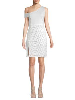 Nsr Diamond Lace Mini Dress