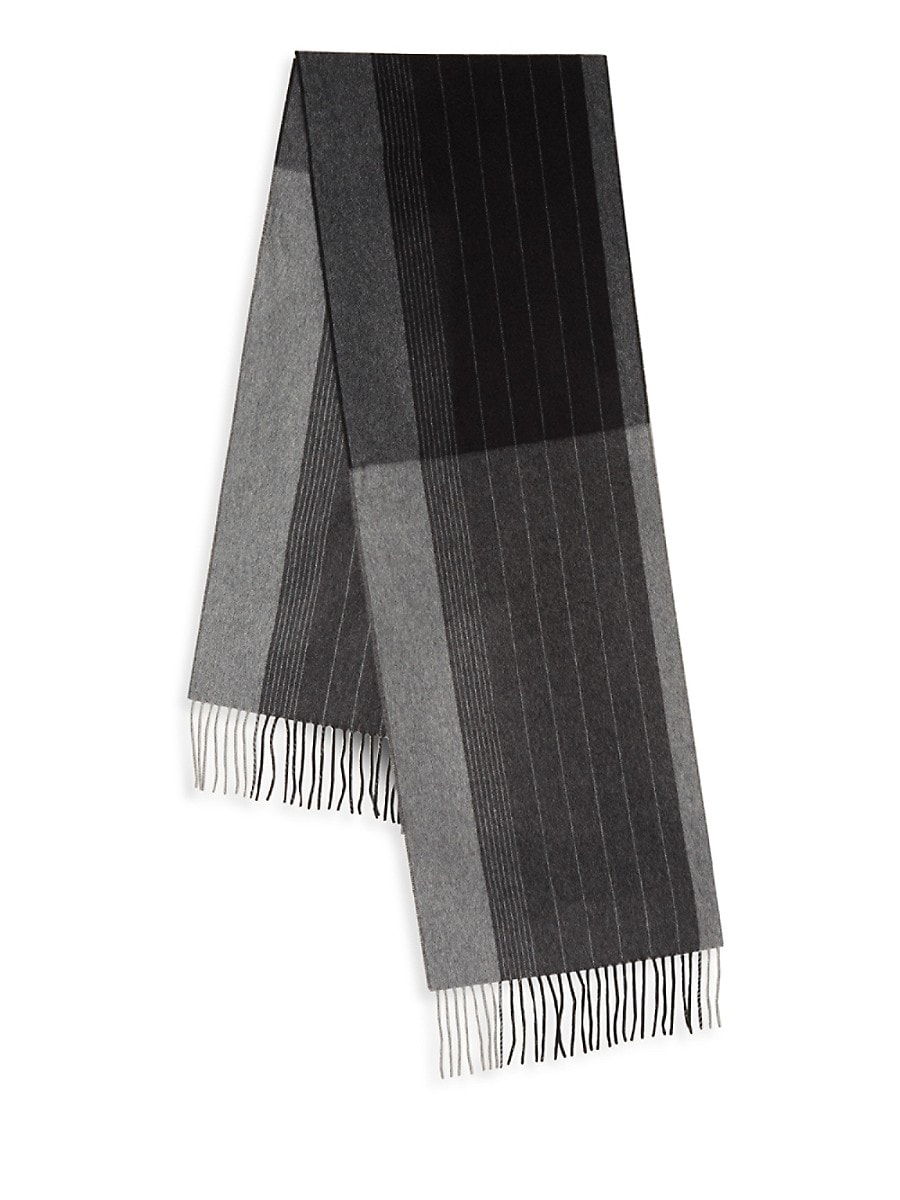 Men's Striped Cashmere Scarf