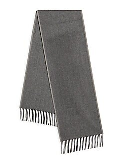 Cashmere Saks Fifth Avenue - Fringed Cashmere Scarf