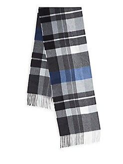 Cashmere Saks Fifth Avenue - Exploded Plaid Cashmere Scarf
