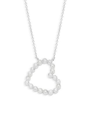 Kwiat 18K White Gold Diamond Heart Pendant Necklace