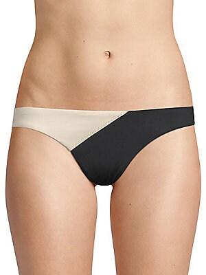 VIX SWIM Two-Tone Bikini Bottom in Black