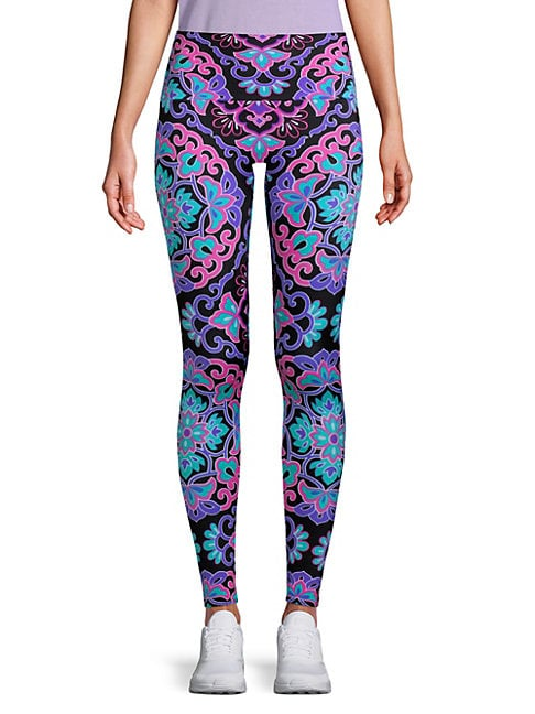Sneaker Length Floral Leggings