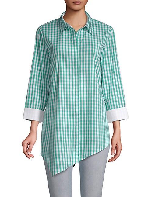 Rosamund Gingham Button-Front Shirt