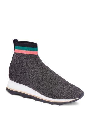 Scout Knit Platform Sneaker in Black Silver