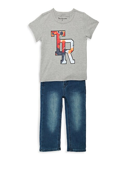 BABY BOY'S TWO-PIECE COTTON TEE & JEANS SET