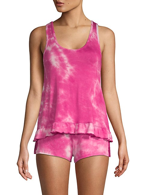 Two-Piece Tie-Dyed Shorty Pajama Set