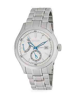 GRAND CLASSIC CALIBRE 918 STAINLESS STEEL ANALOG BRACELET WATCH