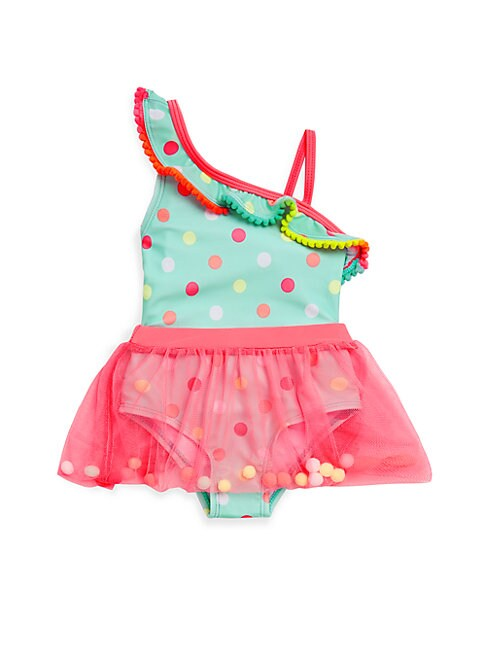 Baby Girl's One-Piece Pretty Pom-Pom Swimsuit