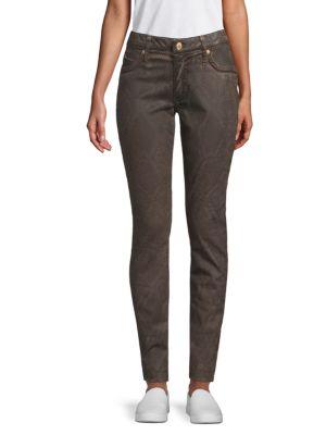 Robin's Jean Marilyn Snakeskin-Print Jeans