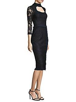 Alexis - Florenza Cutout Lace Sheath Dress