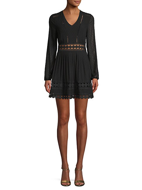 FREE GENERATION | Embroidered Fit-&-Flare Dress | Goxip