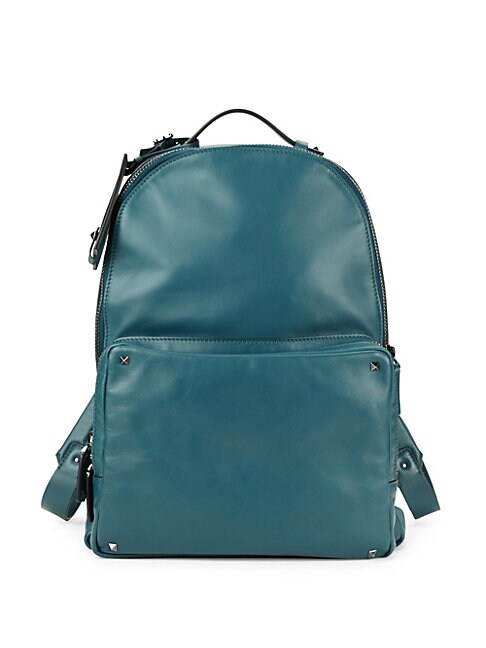 Stud Leather Backpack