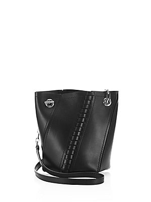 Hex Mini Whipstitched Leather Bucket Bag