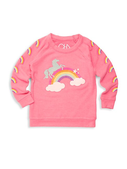 Little Girl's Princess Rainbow Graphic Pullover