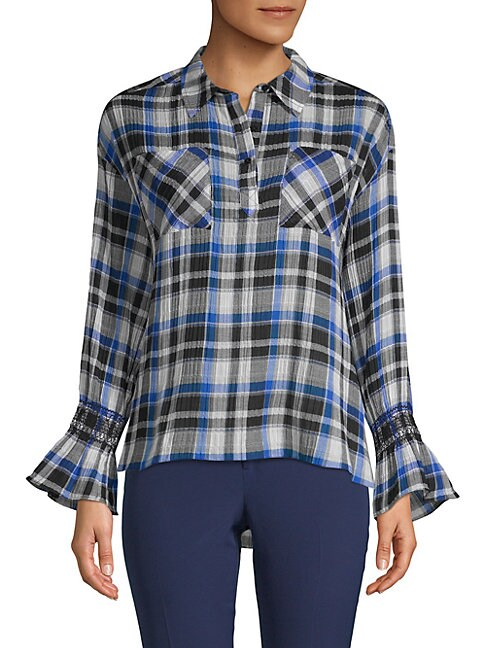 Plaid Collared Top