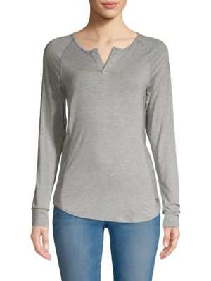 BODY LANGUAGE Gaby Raglan-Sleeve Tee in Grey
