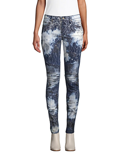 Robin's Jean PRINTED MOTORCYCLE JEANS