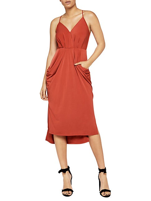 Sleeveless Hi-Lo Midi Dress