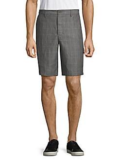 Robert Graham - Windowpane Check Linen Shorts