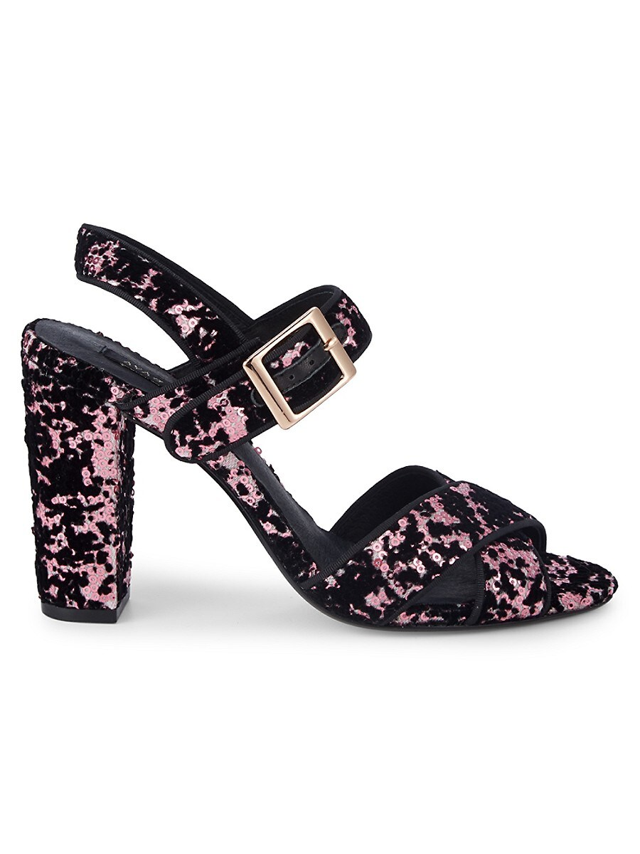 Women's Giselle Sequined Velvet Sandals