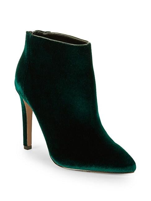 Melyssa Velvet Ankle Boots