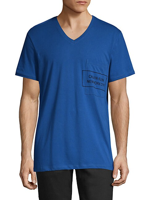 Graphic V-Neck Cotton Tee