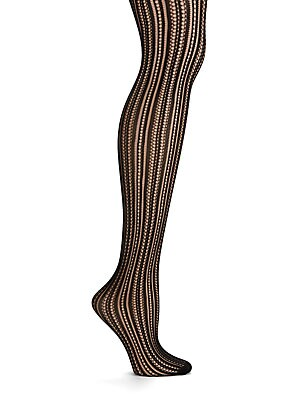 Vertical Pointelle Tights