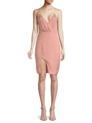 STYLESTALKER Kaylee Draped Dress in Rose Quartz