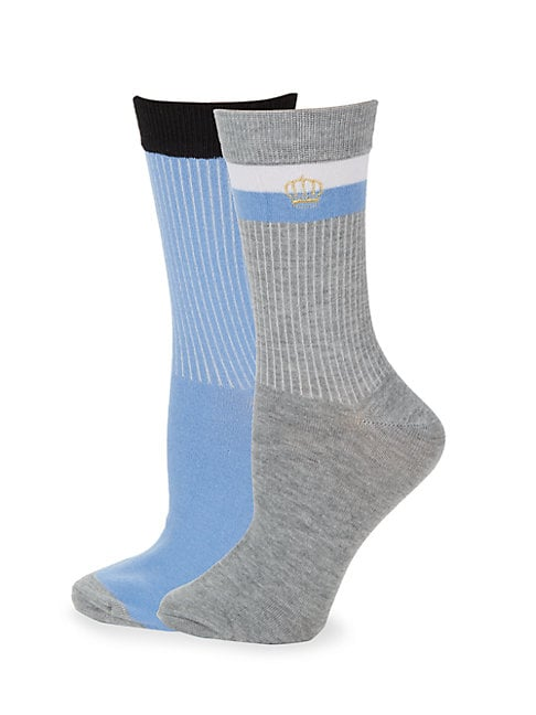 Juicy Couture TWO-PACK CLASSIC CREW SOCKS