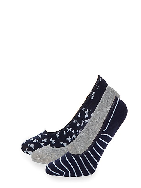 Juicy Couture THREE-PACK CLASSIC NO SHOW SOCKS