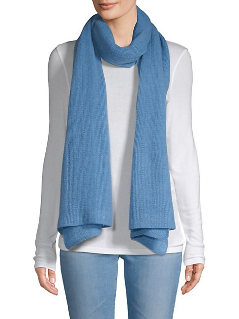 Textured Cashmere Oblong Scarf