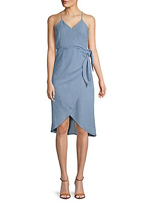 Hi-Lo Wrap Dress