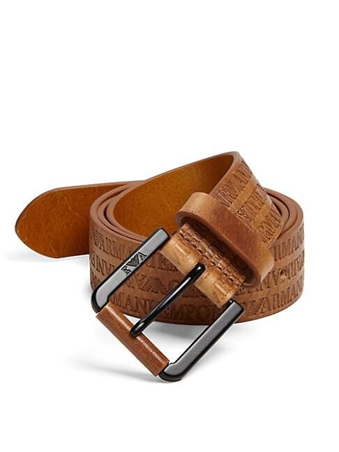 Multi-Logo Leather Belt