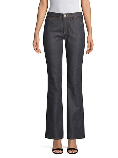Buttoned Wide-Leg Jeans