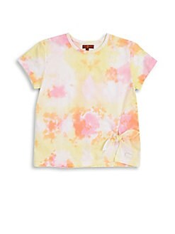7 For All Mankind - Girl's Knotted T-Shirt