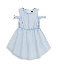7 For All Mankind - Little Girl's & Girl's Cold-Shoulder Chambray Dress